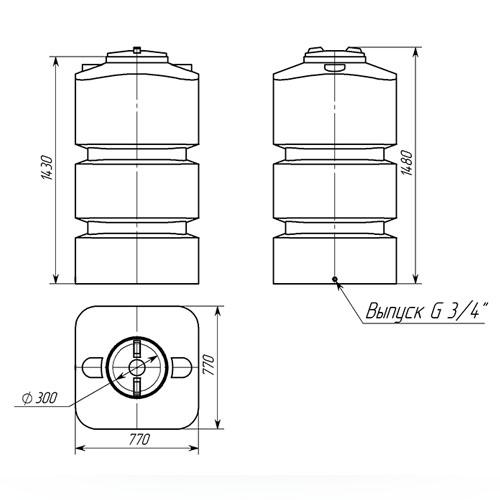 Емкость ТВП-750